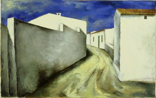 Anna-Eva Bergman: [Sin título], 1933, 50 X 84 cm, óleo sobre lienzo. Foto: Fundación Hartung Bergman.