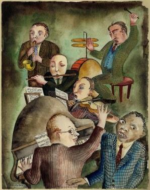 Anna-Eva Bergman: [Sín título], 1931, 31 X 24 cm, acuarela sobre papel. Foto: Fundación Hartung Bergman.