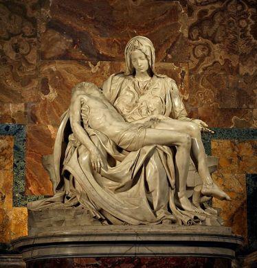 Miguel Ángel: Piedad. Roma, Basílica de San Pedro del Vaticano. Foto: Wikimedia Commons.