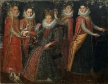 Lavinia Fontana: Retrato de cinco mujeres con un perro y un loro. Mercado del Arte (Dorotheum, Abril de 2010, lote 25).