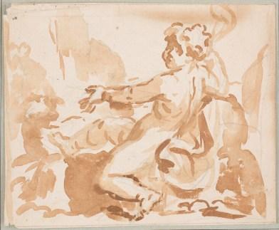 Elisabetta Sirani: San Juan Bautista. Museo Nacional del Prado.