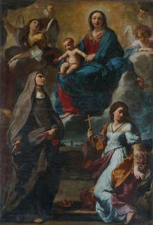 Elisabetta Sirani: Virgen con Santa Isabel de Portugal y Santa Margarita. Foto: News Art.