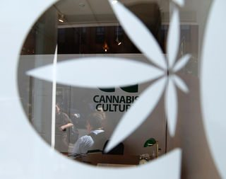 Police watching as pot shop reopens