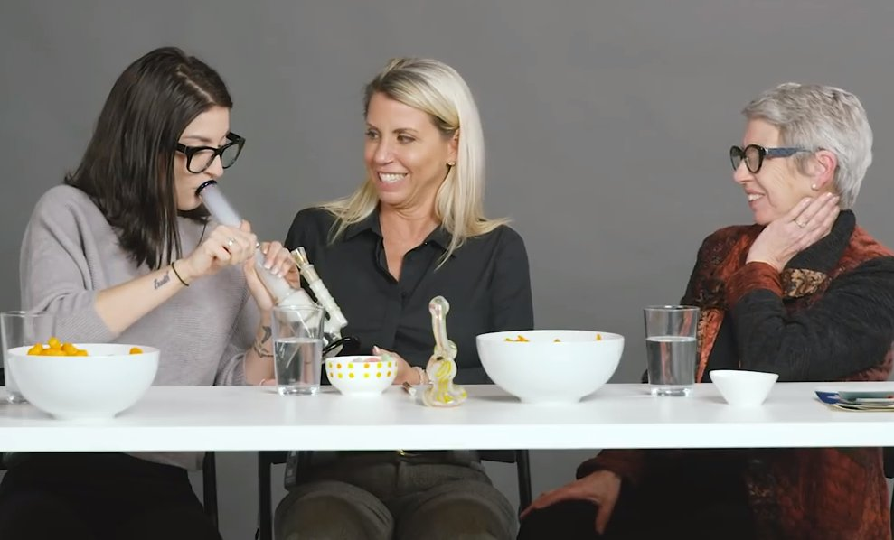 Woman, Mom, and Grandma Smoke Weed Together for the First Time & Things Get Deep