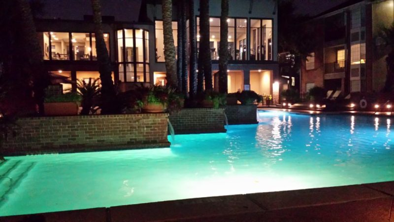 The pool at my expensive apartment complex while in residency.