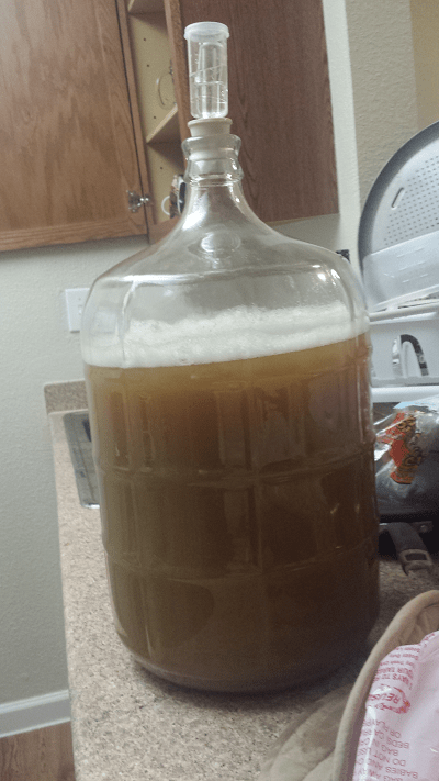 my latest homebrew beer