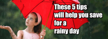 save for a rainy day fund