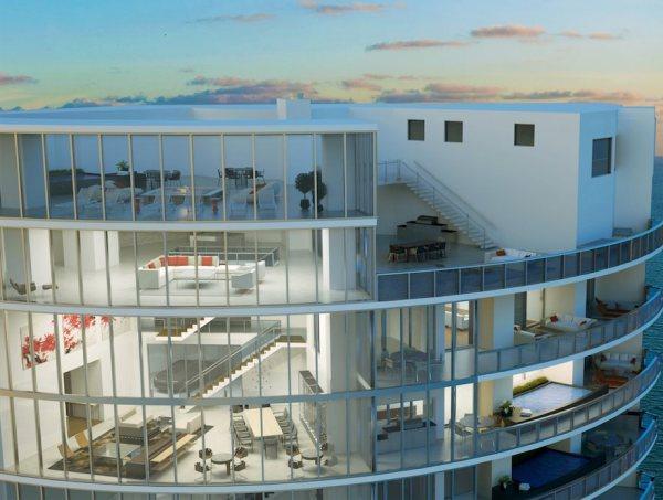 Porsche Design Tower Penthouse close up