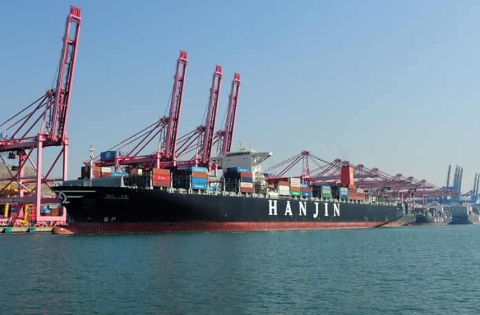 The United States introduce taxes on China Sunday, before rest Monday | Photo credits: Hanjin Shipping Co, ldt