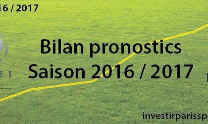 Investir Paris Sportifs - Bilan - 2016 - 2017 - investirparissportifs.com