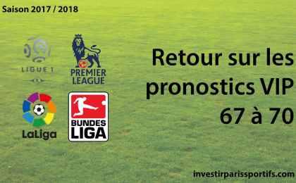 Retour sur pronostics VIP - 67 to 70 investirparissportifs.com