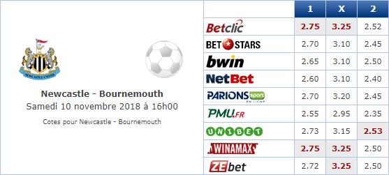 Pronostic investirparissportifs.com - Investir paris sportifs Newcastle Bournemouth