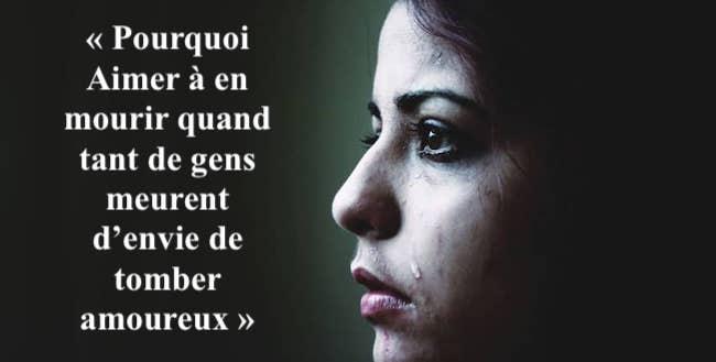 « Aimer À En Mourir Quand Tant De Gens Meurent D'envie De Tomber Amoureux »