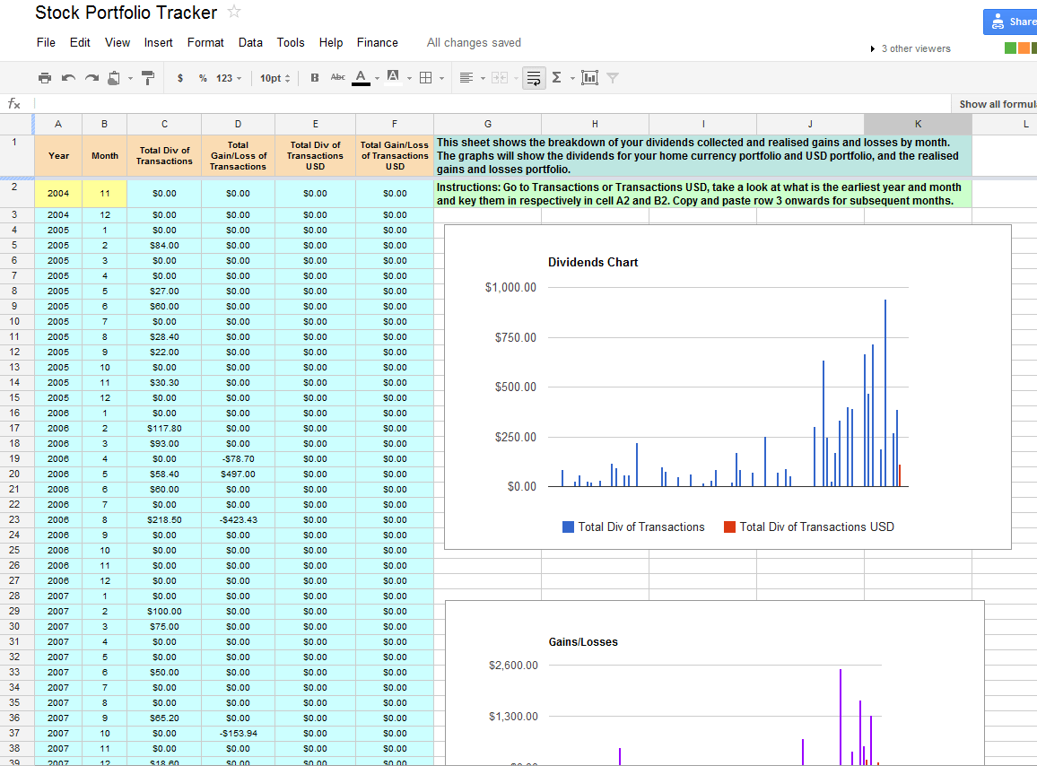 Our Free Online Investment Stock Portfolio Tracking