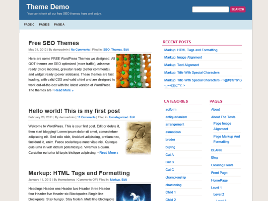 wordpress blog themes quickpress