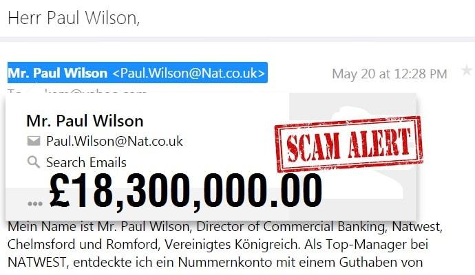 NatWest Bank Scam Alert