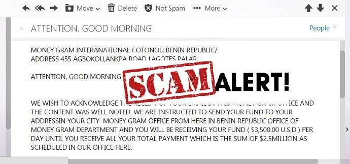 MoneyGram Scam Email Sample Format-min