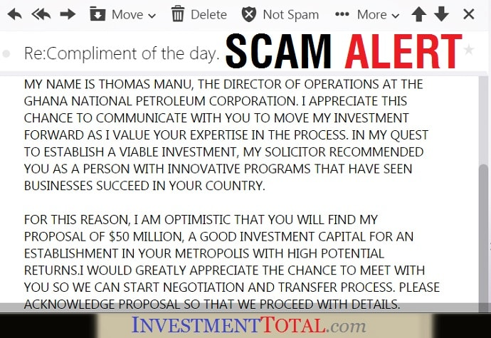 Scam Alert Good Investment Capital Offered with High Potential Returns