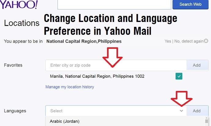 change my yahoo email