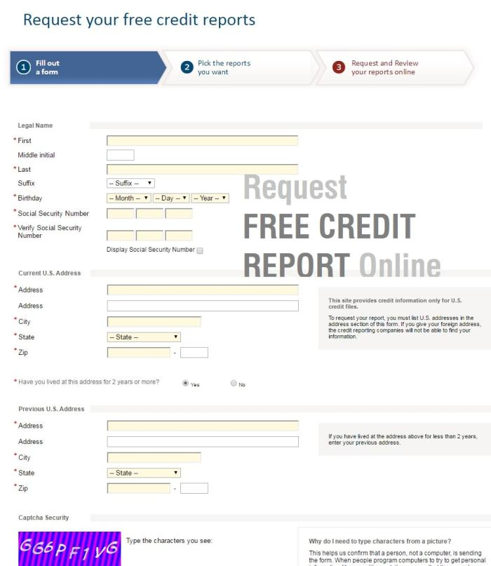 Free Credit Report Tips Request Online Only  Steps To Follow