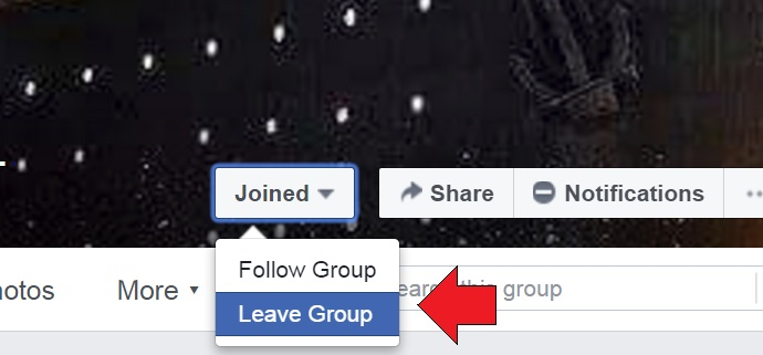 How to Leave Facebook Group