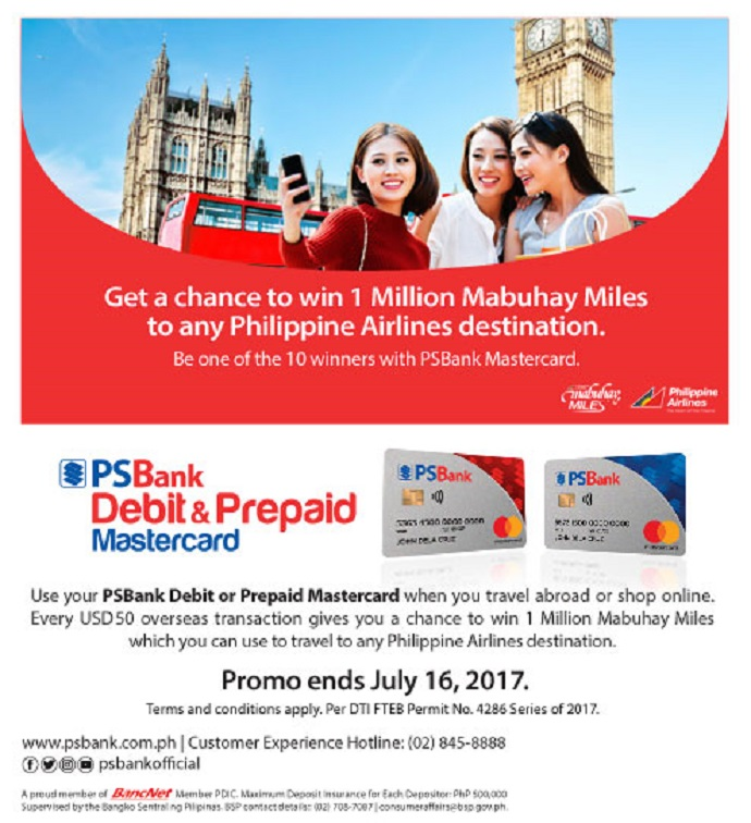 Win 1 Million Philippine Airlines Mabuhay Miles Using
