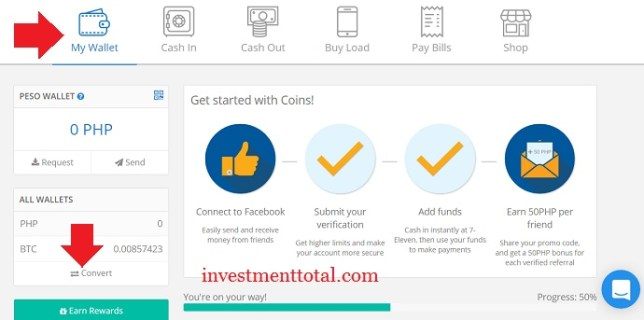 How to deposit funds to coins account convert peso to bitcoin if you have p20000 in your coins peso wallet and want to convert p1000 into bitcoin then just type the desired amount then select convert ccuart Choice Image