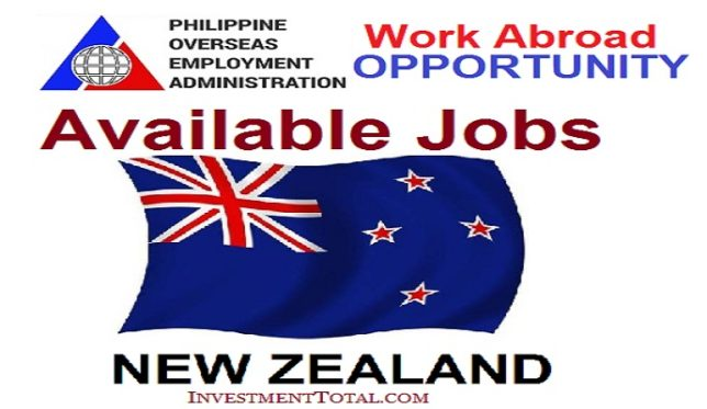 Pinoy Jobs in New Zealand POEA Approved: Work Abroad Opportunity