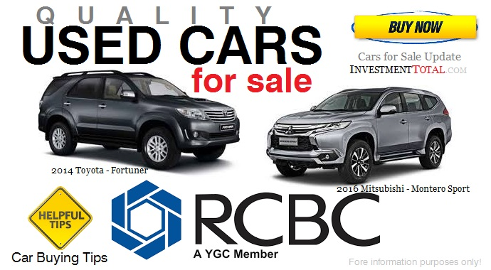 Auto Gauge For Sale Philippines: 186 Used Cars For Sale Of RCBC (Philippines) 2014