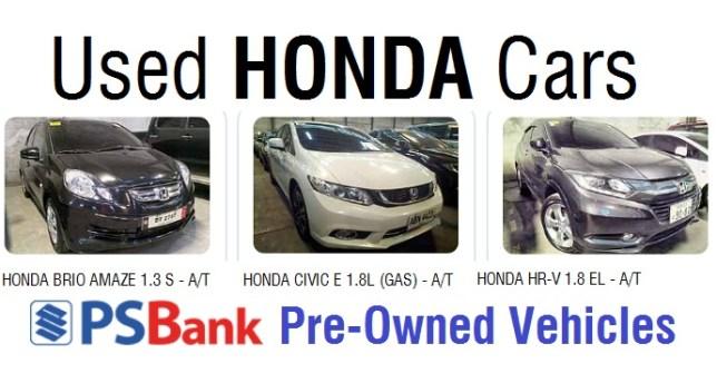 used honda cars for sale psbank