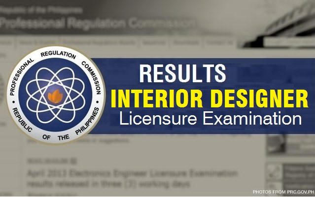 Interior Designer Licensure Examination Results PRC Board Exam
