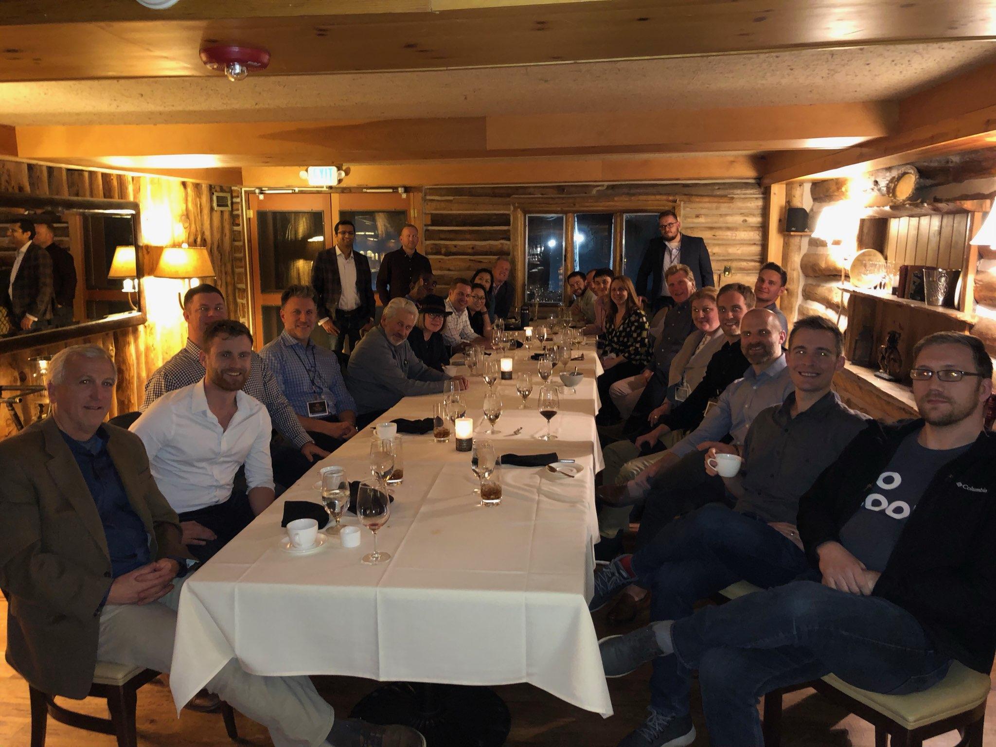 Investor Deal Room client appreciation dinner