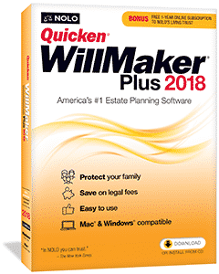 nolo quicken willmaker plus 2018