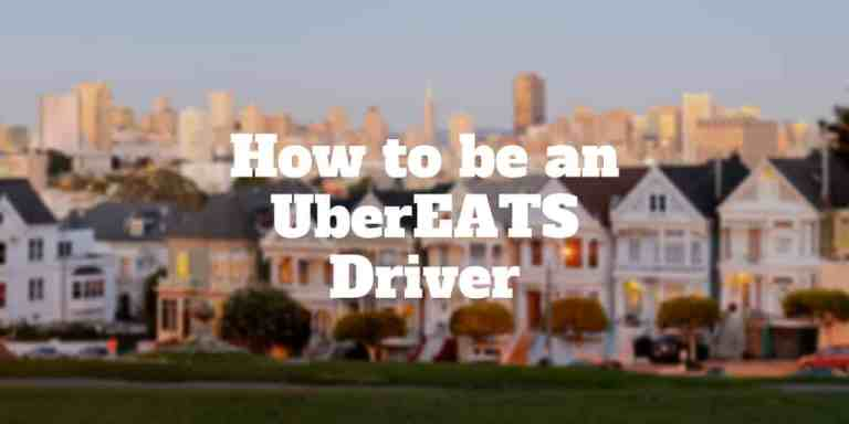 how to be an ubereats driver