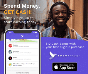 spend money, get cash.  $10 cash bonus with your first eligible purchase with SPENT money. Download at the Apple App Store