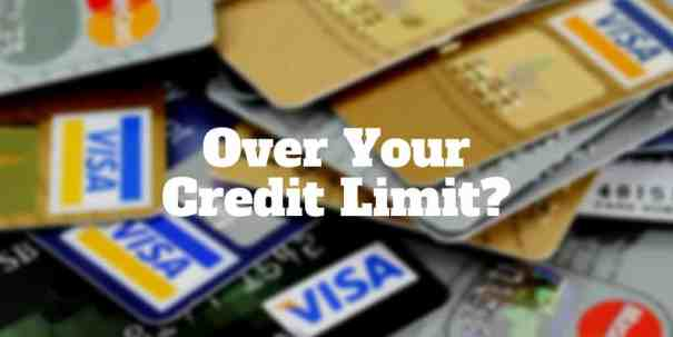 over your credit limit