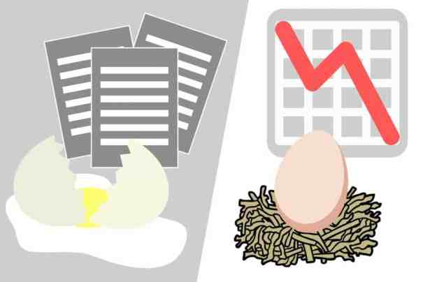 cracked egg and growing nest egg