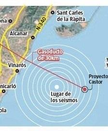 mapa zona afectada terremotos por Proyecto Castor_foto La Vanguardia
