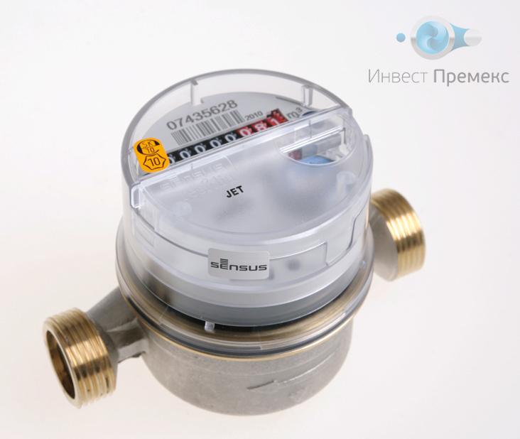 Квартирный одноструйный счетчик воды Sensus ResidiaJet