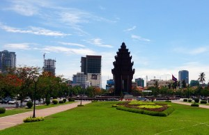 A growing number of new condominium developments sprout up in Phnom Penh, attracting mainly foreign buyers. Picture: Arno Maierbrugger