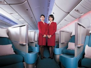Hong Kong's Cathay Pacific offers the best business class