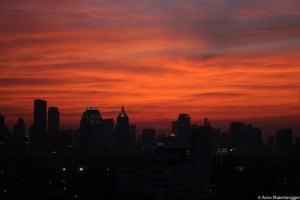 Bangkok sunset_Arno Maierbrugger