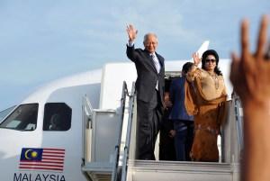 Najib and plane