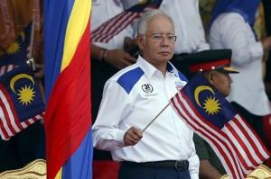 Najib with flag
