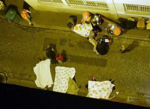 Bodies in the streets of Paris