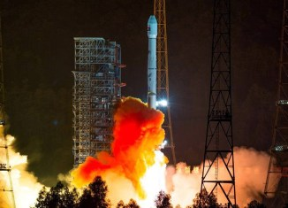 Laos sends off its first satellite to space