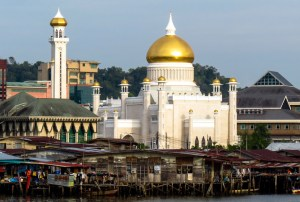 Brunei mosque and houses