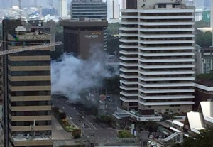 Jakarta blast_street