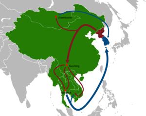 North_Korean_defector_routes_map