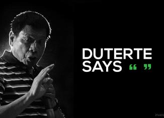 President Rodrigo 'the punisher' Duterte in quotes